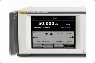 6270A Pressure Controller Calibrator display
