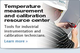 Temperature measurement resources, process calibration tools