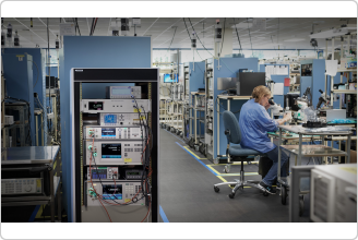 Fluke 8558A 8.5 Digit Multimeter in Rack in Factory